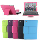 For iPad Mini 1  2 3 Stand Leather Case Cover With Removable Bluetooth Keyboard