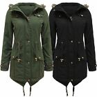 Womans Classic Fish Tail Parka Jacket Hooded Size 8 10 12 14 16 £32.99 Free Post