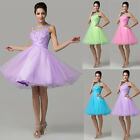 2015 Sexy Princess Bridesmaid Party Formal Ball Gown Cocktail Short Prom Dresses