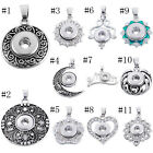 1PC Snap Pendant Fit Snap Mini Button Rhinestone Metal DIY