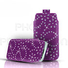 DIAMOND BLING LEATHER PULL TAB CASE COVER POUCH FOR DORO PHONE EASY MOBILES