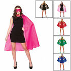 Adults Super Hero Cape With Mask Set Fancy Dress Up Party Halloween Accessory