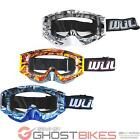 Wulf Geo Motocross Goggles Wulfsport Off Road Helmet Anti Scratch Lens Bike MX