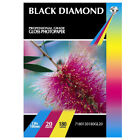 BLACK DIAMOND PREMIUM GLOSS COATED PHOTO CARDS 50 SHEETS 7 X 5 180GSM