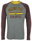 Arizona State Sun Devils NCAA Men's Long Sleeve Raglan Shirt - Gray / Maroon