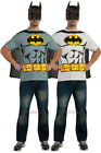 Mens Batman T Shirt Rubies New Official Superhero Stag Fancy Dress Costume Top