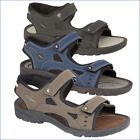 NEW MEN'S SANDALS BEACH HOLIDAY SPORTY VELCRO FASTENING NAVY BLACK BROWN