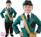 BOYS WW2 EVACUEE COSTUME WORLD WAR 2 WARTIME CHILD 1930S 1940S FANCY DRESS
