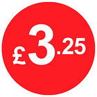20mm Red Shop Price Point Stickers / Sticky / Swing Tag Labels 50p 99p £1 £2 POS
