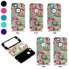 Cashew Flower Hybrid PC Silicone Shock Dirt Proof Case Cover For iPhone 6 / Plus