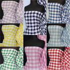 Premium quality 1 inch gingham poly cotton woven material Q561