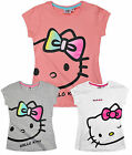 Girls Hello Kitty T Shirt Kids Short Sleeve Cotton Top New Age 3 4 6 8 Years