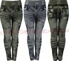 Girls Jeggings Denim Jeans Printed Leggings Childrens Fashion Clothes Ages 3-14y