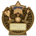 Resin Trophy Century WINNER WELL DONE Award Plaque FREE ENGRAVING A1615GLEN