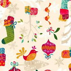 COOL YULE SCATTER by MAKOWER 100% COTTON FABRIC CHRISTMAS