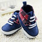 Infant baby boy crib shoes blue Sports shoes size 0-6 6-12 12-18 months