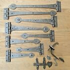 WROUGHT CAST IRON SUFFOLK COTTAGE LATCH + SPEAR ARROW DOOR GATE TEE HINGES T HI