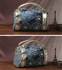 Korean Fashion Cowboy Diamond Woven Bag Handbag Cylindrical Pillow Style Bag