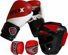 RDX Maya Hide Leather Boxing Gloves Fight Punch Bag Head Guard Hand Wraps MMA HG