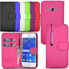 Flip Wallet Leather Case Cover Pouch For Samsung Galaxy Ace 4 SM-G357