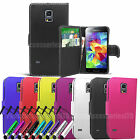 Wallet Leather Case Cover Book Pouch For Samsung Galaxy Phone Models Make