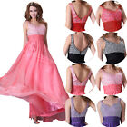 A LINE Beaded Evening Bridesmaid Formal Prom Party Quinceanera Gown Long Dresses