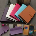 Flip Leather Credit Card Cash Money Slot Wallet Hard Case Cover Stand For Phone