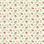 FOR YOUR LOVE - SPRIG FLORAL CREAM RED  by MAKOWER 100% COTTON FABRIC PATCHWORK