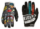 O'Neal Mens Black/Multi Jump Crank Dirt Bike Gloves MX ATV Gear 2015