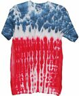 Red White Blue Flag Design Tye Dye T Shirt