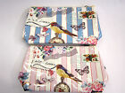 72932- Ella Synthetic Bird 'With Love' Washbag 2 Colours- Pink&Blue- Great Price