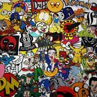 """""""CARTOON GREATS"""" PATCH SERIES Awesome Iron-On Patches, Low Price, UK Seller... £2.25 GBP"""