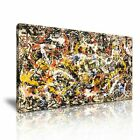 Jackson Pollock Abstract Canvas Modern Home Office Wall Art Deco