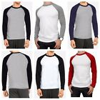 Men's Long Sleeve Raglan T-Shirt Baseball Hipster Tee Fashion Crew Neck S-2X image