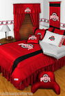 Ohio State Buckeyes Comforter Bedskirt Sham Valance Twin Full Queen King Size