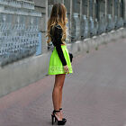 Design Womens High Waist Party Ball Prom Short Skirt Flared Skater Pleated Dress