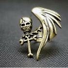Feature Modish HOT Rock Gothic Cool Skull Wing Cross Adjustable Finger Ring JRAU
