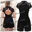Womens Collared Short Mini Cocktail Party  Dress Club Work Wear Casual Jumpsuits