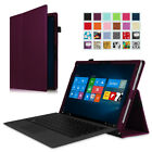 Folio Leather Case Cover Bluetooth Keyboard for 12-Inch Microsoft Surface Pro 3