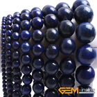 "Blue Lapis Lazuli Gemstone Round Beads For Jewelry Making 15"" 6mm 8mm 10mm 12mm"