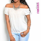 New Sexy Latina Off Shoulder Top Ladies Casual Shirt Blouse Sz 4 6 8 10 12 S M L