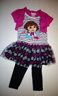 Nickelodeon Dora The Explorer  Girls  2pc  Outfit Size-4 ,5 or 6X NWT