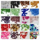 200 x 4mm / 100 x 6mm / 50 x 8mm Crystal Glass Bicone Beads  - Assorted Mixed