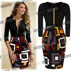 Womens Sexy Black Pencil Bodycon Work Club Wear Cocktail Party Casual Mini Dress