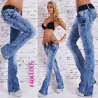 New Sexy Womens Jeans Size 10 12 14 6 8 XS S M L XL Hot Bootleg Stretch Pants