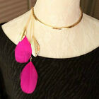 C8  Vintage Womens  Necklaces Leaves Tassel  Party Gothic Chain Lady Jewelry