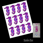 Transparency #70 SEAHORSE 70mm PURPLE UN-CUT 2, 4 or 8  suncatcher 3D CRAFT film