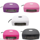 Powerful 9W EU Plug LED UV Nail Lamp Gel Polish Curing Nail Art Dryer Light Tool