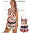 Aztec Sleeveless Bodycon Summer Playsuit Michelle Keegan Celebrity Inspired