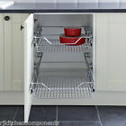 Pull Out Wire Basket Sets for Kitchen Larder Cupboards 300mm 400mm 500mm & 600mm